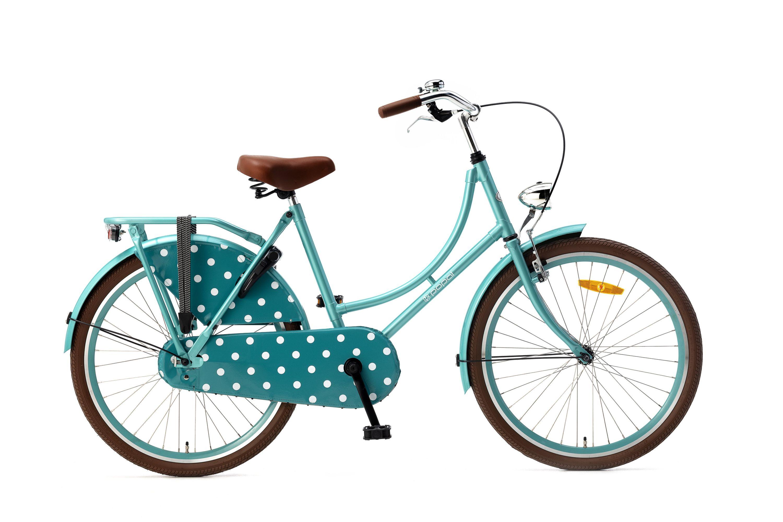 24 Mädchen Fahrrad 24 Zoll Kinder Fahrrad Retro Hollandrad Rücktritt Licht
